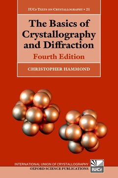 Couverture de l'ouvrage The Basics of Crystallography and Diffraction