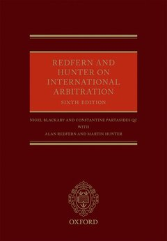 Couverture de l'ouvrage Redfern and Hunter on International Arbitration