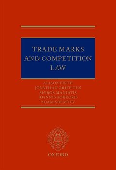 Couverture de l'ouvrage Trade Marks and Competition Law