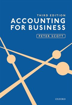 Couverture de l'ouvrage ACCOUNTING FOR BUSINESS 3E