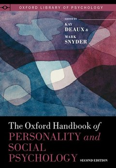 Couverture de l'ouvrage The Oxford Handbook of Personality and Social Psychology