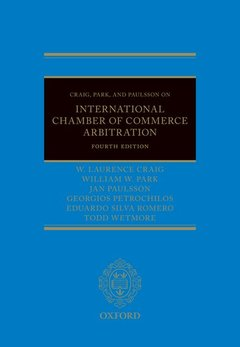 Couverture de l'ouvrage Craig, Park and Paulsson on International Chamber of Commerce Arbitration