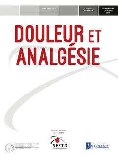 Couverture de l'ouvrage Douleur et Analgésie Vol. 31 N° 3 - Septembre 2018
