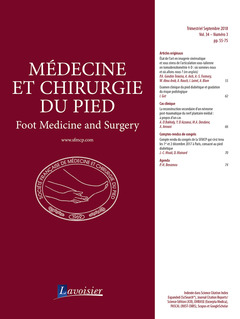 Couverture de l'ouvrage Médecine et chirurgie du pied Vol. 34 N° 3 - Septembre 2018