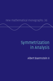 Couverture de l'ouvrage Symmetrization in Analysis
