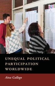 Couverture de l'ouvrage Unequal Political Participation Worldwide