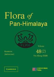 Couverture de l'ouvrage Asteraceae II (Saussurea), Part 2