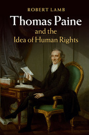 Couverture de l'ouvrage Thomas Paine and the Idea of Human Rights