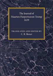 Couverture de l'ouvrage The Journal of Maarten Harpertszoon Tromp
