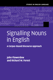 Cover of the book Signalling Nouns in Academic English