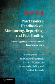 Couverture de l'ouvrage HPCR Practitioner's Handbook on Monitoring, Reporting, and Fact-Finding