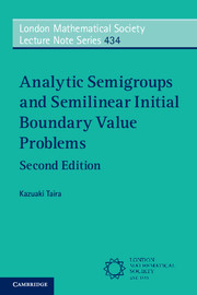 Couverture de l'ouvrage Analytic Semigroups and Semilinear Initial Boundary Value Problems