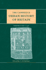 Cover of the book The cambridge urban history of britain volume 1 600-1540