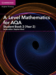 Couverture de l'ouvrage A Level Mathematics for AQA Student Book 2 (Year 2)