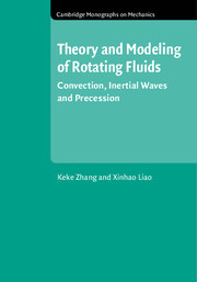 Couverture de l'ouvrage Theory and Modeling of Rotating Fluids