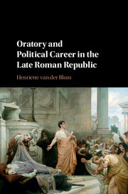 Cover of the book Oratory and Political Career in the Late Roman Republic