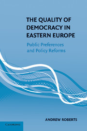 Cover of the book The quality of democracy in eastern europe