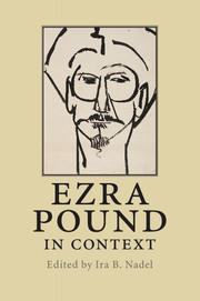 Couverture de l'ouvrage Ezra pound in context