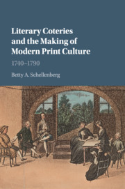 Cover of the book Literary Coteries and the Making of Modern Print Culture
