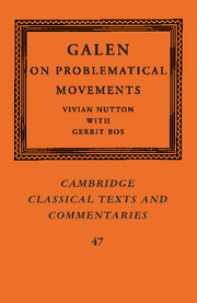 Cover of the book Galen: on problematical movements