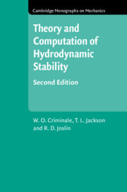 Cover of the book Theory and Computation in Hydrodynamic Stability