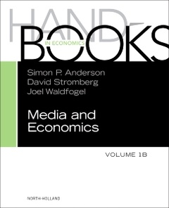 Couverture de l'ouvrage Handbook of Media Economics, vol 1B