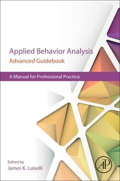 Couverture de l'ouvrage Applied Behavior Analysis Advanced Guidebook