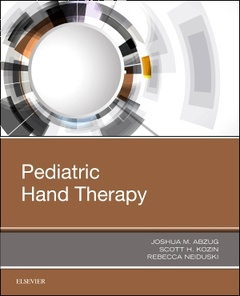 Couverture de l'ouvrage Pediatric Hand Therapy