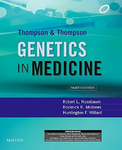 Couverture de l'ouvrage Thompson & Thompson Genetics in Medicine, 8e