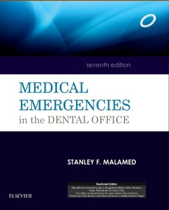 Couverture de l'ouvrage Medical Emergencies in the Dental Office, 7e