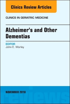 Couverture de l'ouvrage Alzheimer's and Other Dementias, An Issue of Clinics in Geriatric Medicine
