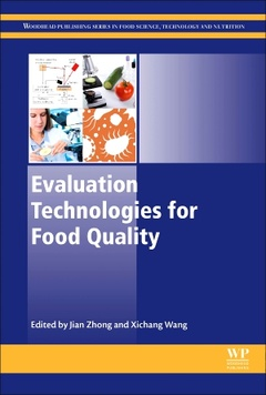 Couverture de l'ouvrage Evaluation Technologies for Food Quality