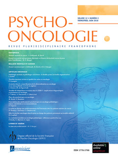 Cover of the book Psycho-Oncologie Vol. 12 N° 2 - Juin 2018