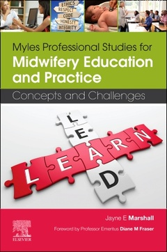 Couverture de l'ouvrage Myles Professional Studies for Midwifery Education and Practice