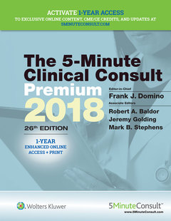 Couverture de l'ouvrage 5-Minute Clinical Consult Premium 2018