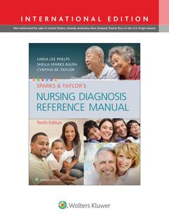 Couverture de l'ouvrage Sparks & Taylor's Nursing Diagnosis Reference Manual