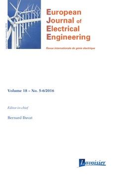 Couverture de l'ouvrage European Journal of Electrical Engineering Volume 18 N° 5-6_September-December 2016