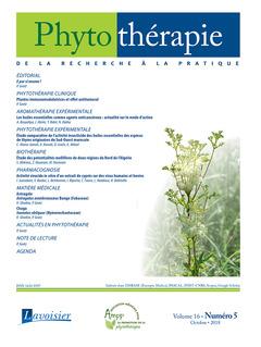 Couverture de l'ouvrage Phytothérapie. Vol. 16 N° 5 - Octobre 2018