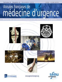 Couverture de l'ouvrage Annales françaises de médecine d'urgence Vol. 8 n° 6 - Novembre 2018 - Avec supplement 1 - Décembre 2018