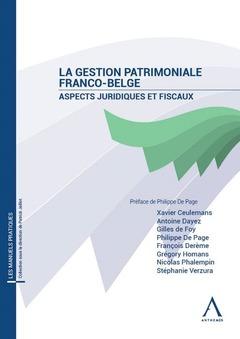 Couverture de l'ouvrage La gestion patrimoniale franco-belge