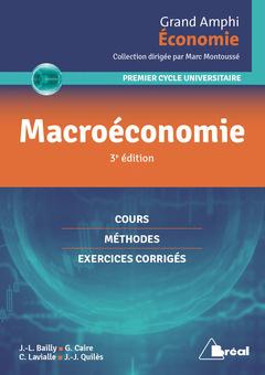 Couverture de l'ouvrage Macroéconomie