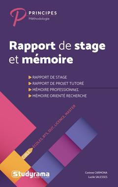 Rapport De Stage Et Mémoire Carmona Corinne Lucile Salesses