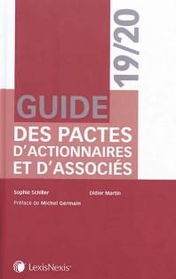 Couverture de l'ouvrage Guide des pactes d'actionnaires et d'associés