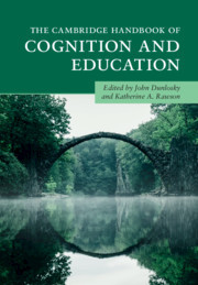 Cover of the book The Cambridge Handbook of Cognition and Education