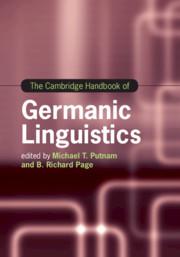 Couverture de l'ouvrage The Cambridge Handbook of Germanic Linguistics
