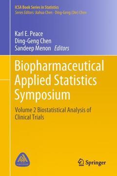 Couverture de l'ouvrage Biopharmaceutical Applied Statistics Symposium