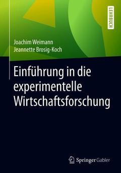 Couverture de l'ouvrage Einführung in die experimentelle Wirtschaftsforschung