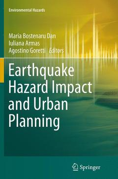 Couverture de l'ouvrage Earthquake Hazard Impact and Urban Planning