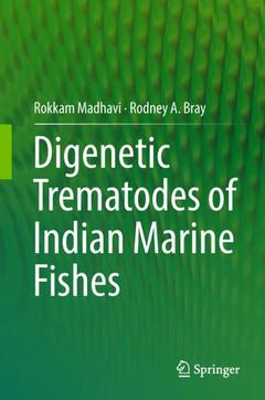 Couverture de l'ouvrage Digenetic Trematodes of Indian Marine Fishes