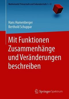Couverture de l'ouvrage Mit Funktionen Zusammenhänge und Veränderungen beschreiben